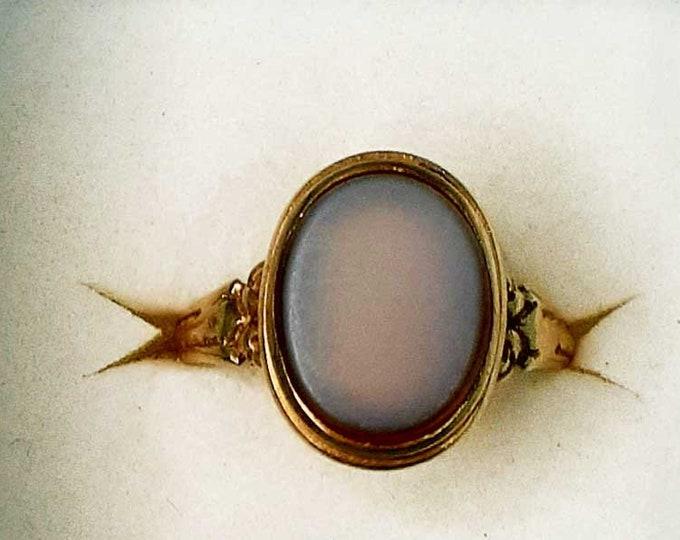 Vintage Victorian Hardstone Gold Ring
