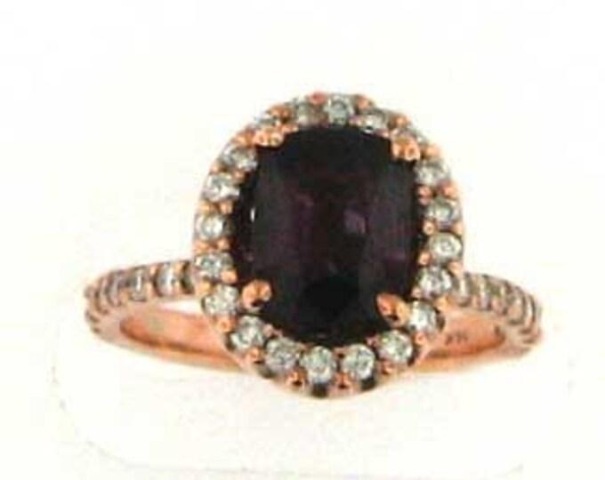 Natural Pink Spinel Rose Gold Ring
