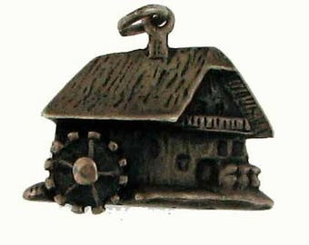 Silver Gristmill Charm