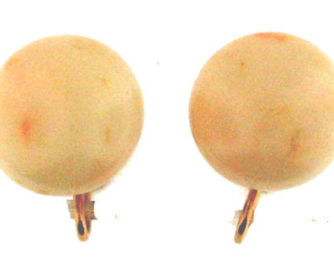 ANGELSKIN CORAL GOLD Earrings Vintage Retro