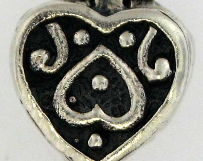 Sterling Silver Heart Box Charm Pendant