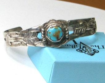 Sterling Silver Native American Fred Harvey Style Bracelet
