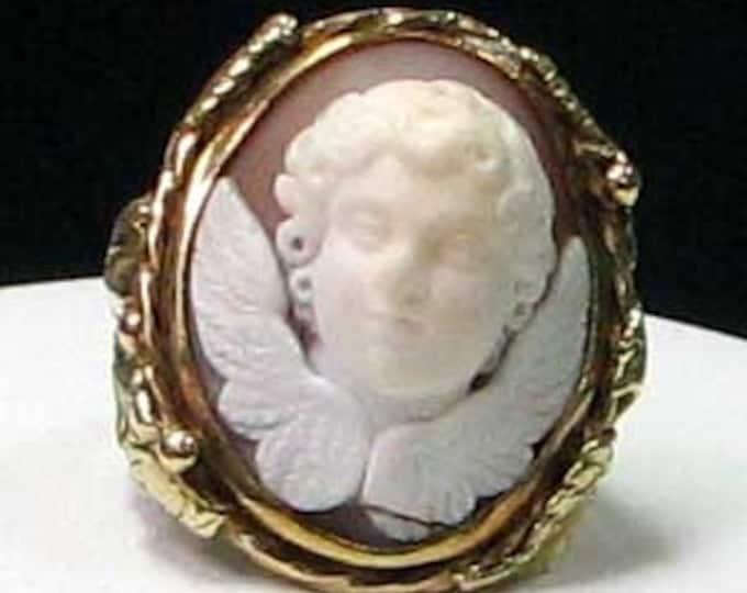 Gold Cherub Cameo Ring