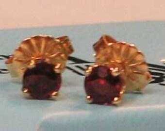 Vintage Garnet Stud Earrings