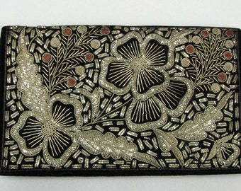 VINTAGE RETRO BEADED Purse with Matching Cigarette Case or Wallet