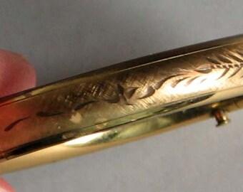 VINTAGE EDWARDIAN BANGLE Gold Filled Hand Carved Bracelet