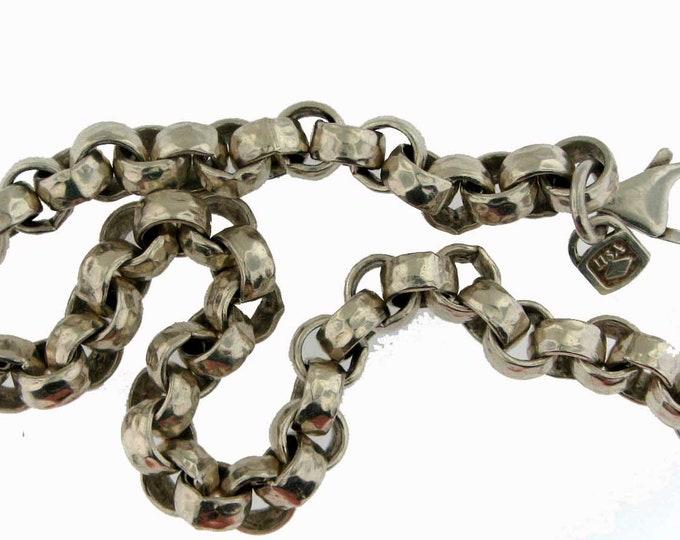 QUALITY HAMMERED SILVER Link Bracelet