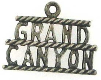 Vintage Grand Canyon Sterling Silver Charm