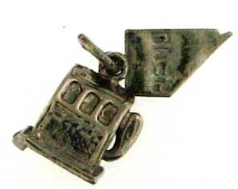 Vintage Reno Slot Machine Nickel Silver Charm