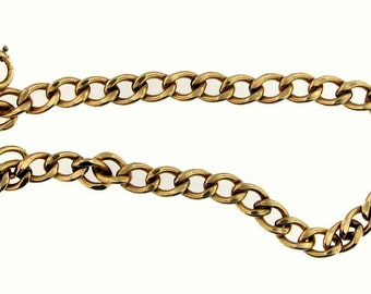 Vintage Art Deco Gold Filled Unisex Curb Link Bracelet