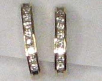 One Carat AWESOME DIAMOND GOLD Hoop Earrings