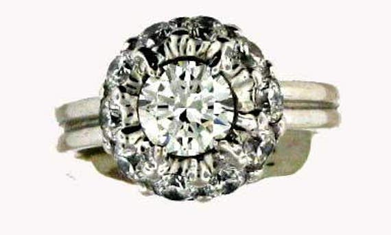 A REAL SPARKLER Diamonds Galore Approx. 1.88 CT diamond ring
