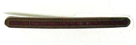 Vintage Edwardian Red Enamel Bar Pin - Good for Repurposing