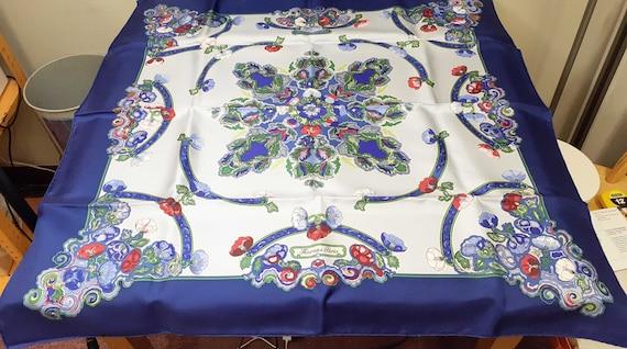 Hermes Vintage Anemones Silk Scarf