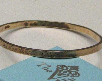 Vintage Victorian Etched Gold Bangle Bracelet