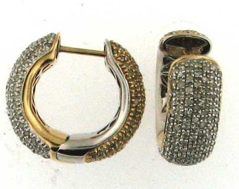 Diamond Studded Reversible Hoop Earrings