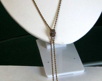 Nice, Weighty Vintage Victorian Gold Filled Lady's Watch Chain with Slide