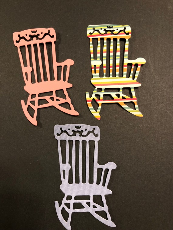 Fantastic Handmade 3 Cute Rocking Chairs Pink Blue Striped Retirement Card Cards Die Cuts Scrapbooking Sizzix Creativecarmelina Interior Chair Design Creativecarmelinacom