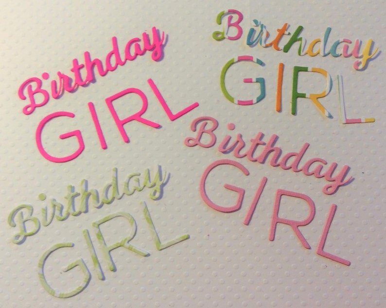 4 Birthday Girl Words Handmade Light Pink Dark 2