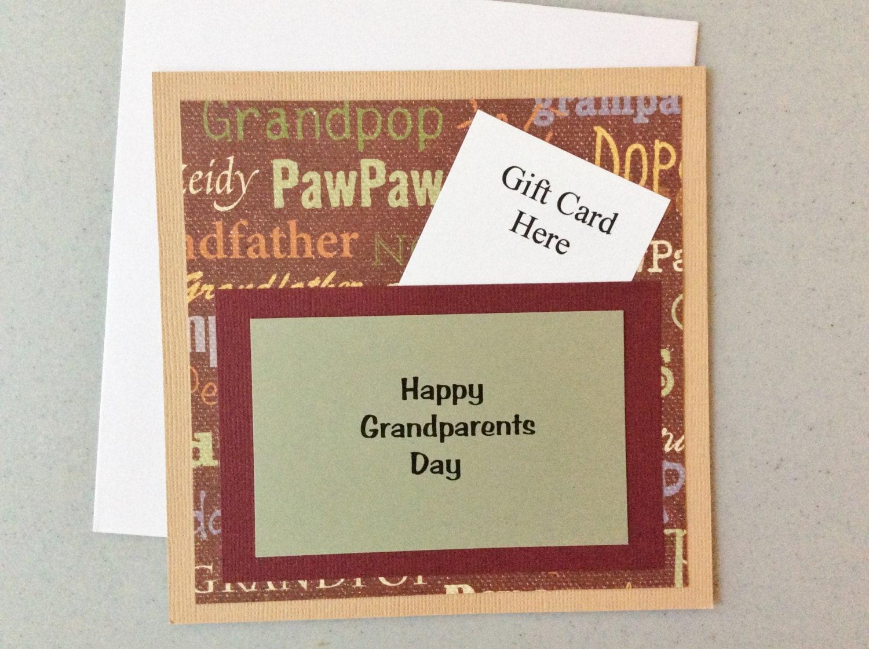 Handmade Happy Grandparents Day Greeting Card For Grandpa Etsy