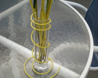 Yellow Wire Stand and Glass