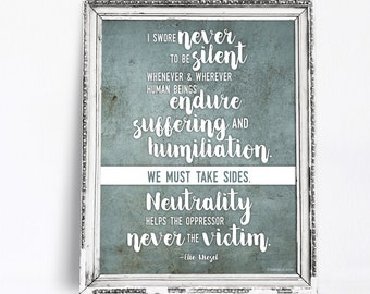 Print: I swore never to be silent ...