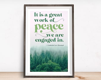 Print: A great work of peace ...