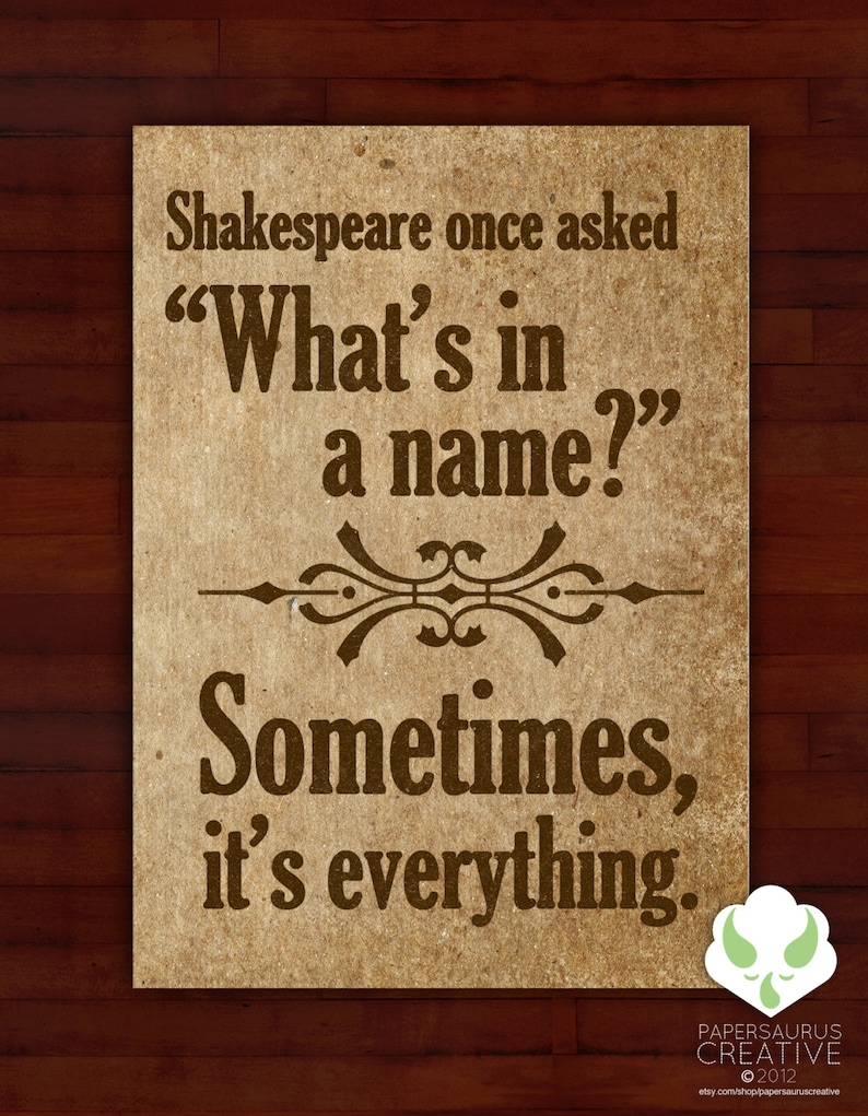 Greeting card: What's in a name sometimes everything  image 0
