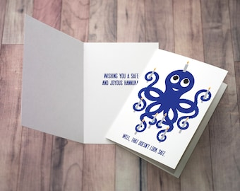 Greeting card - Harold the Hannukah Octopus