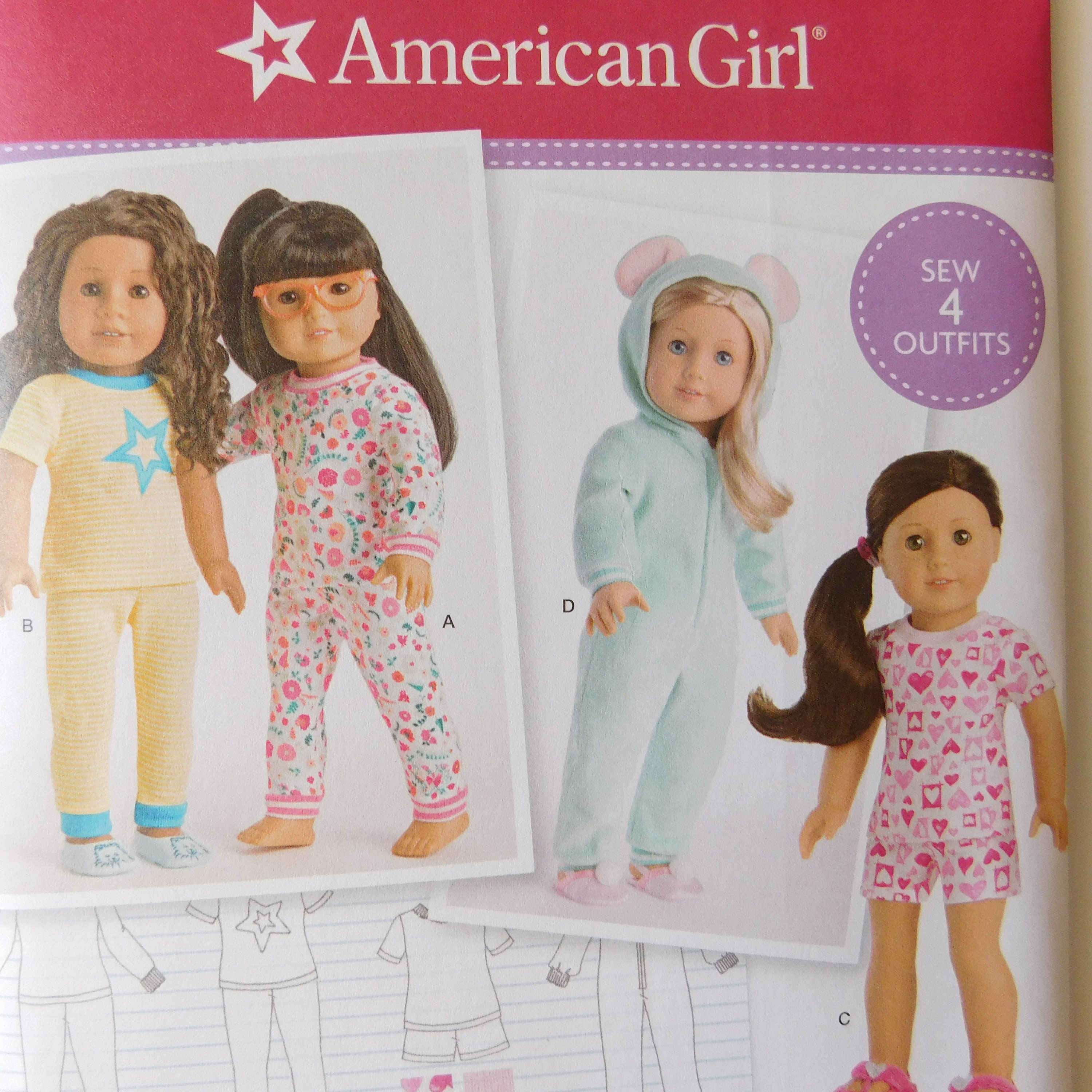 American Girl 18 Doll Home Sewing Pattern Simplicity Etsy