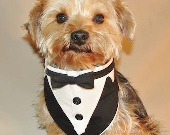 "Sewing Pattern Fits Medium Dogs Neck Size 9"" - 11"" Pet Formal Wear Tuxedo Bandana Wedding Digital Download PDF Files Tutorial Sewing Pattern"