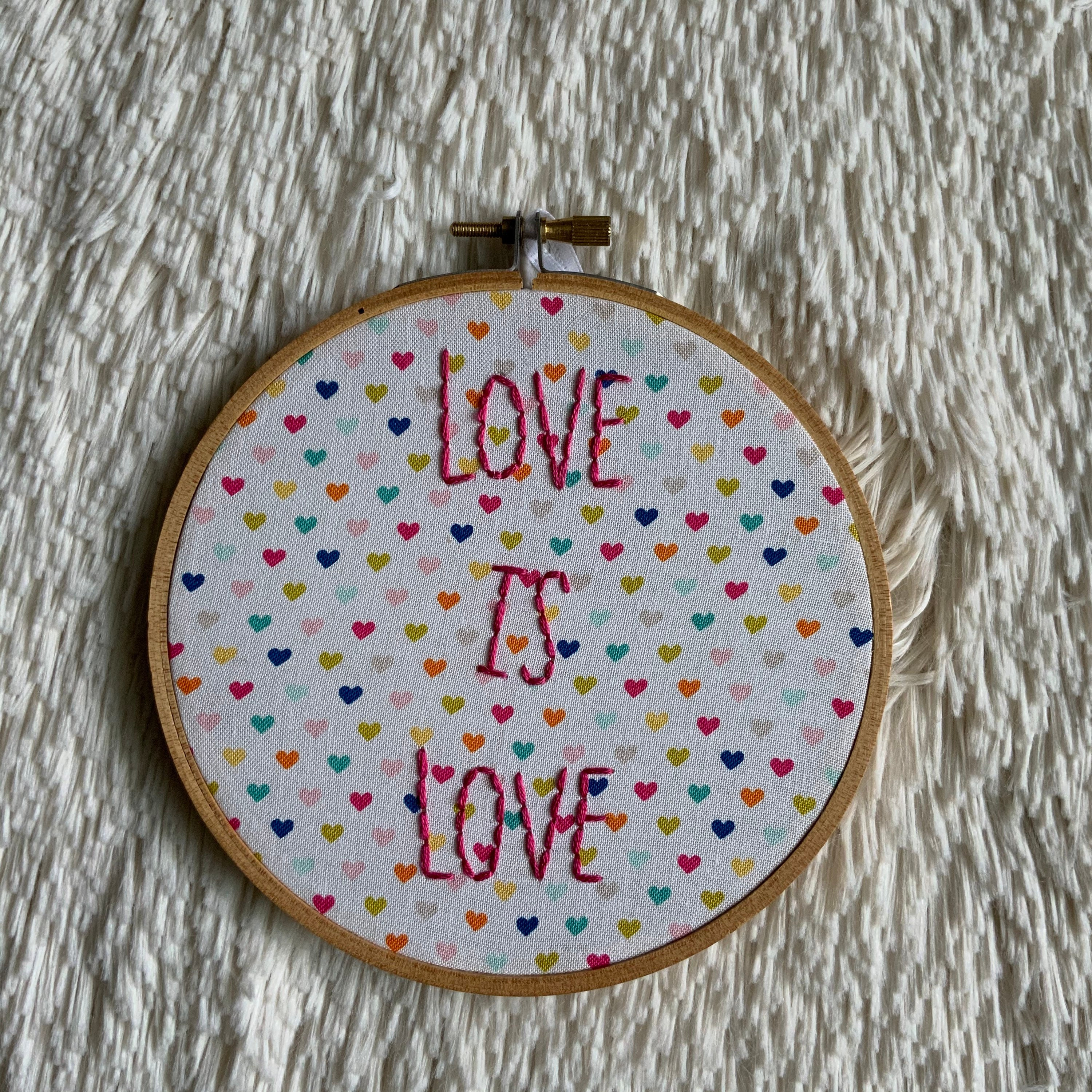 Transgender Rights Symbol Embroidery Hoop Art Modern Embroidery Hand Embroidery