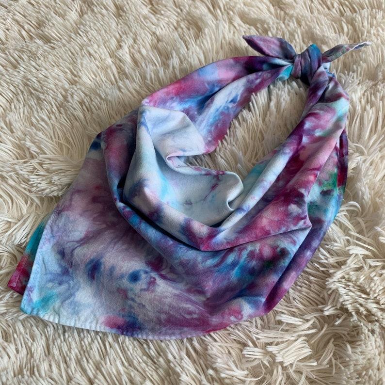 hair scarf bandana Hand Dyed Bandana dog collar neck bandana dog bandana pet bandana dog accessory non medical face covering