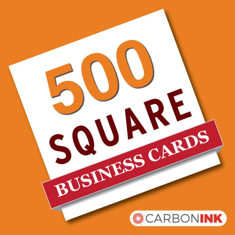 mini business cards 500 Square business card printing straight corners