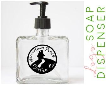 Custom Logo Soap Dispenser - Logo Design Suspended Inside Soap Pump