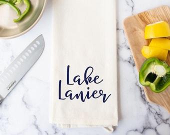 Lake Kitchen Towel - Lake Lanier Dish Towel - Lake Sidney Lanier Hand Towel
