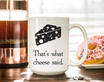Tasses à café drôles - c'est ce que dit drôle tasse à café de fromage - fromage amoureux gourmands cadeau - Funny Mugs avec paroles - tasse - cadeaux café