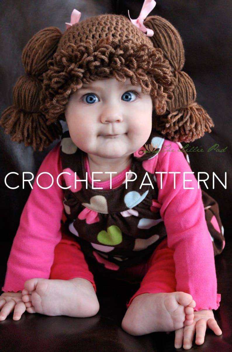 Crochet Pattern Cabbage Patch Hat Cabbage Patch Hat Pattern  1c452bbdcb5