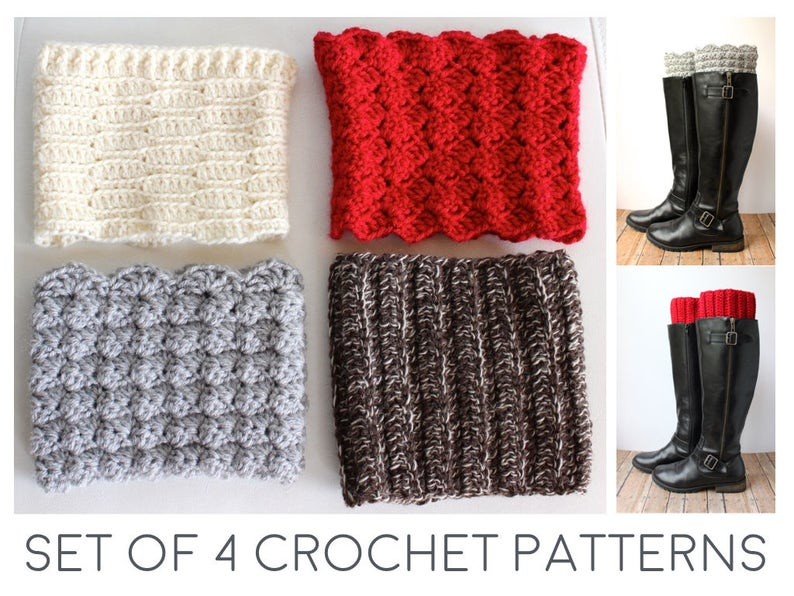 Boot Cuff Crochet Pattern Crochet Boot Cuffs Pattern Boot Etsy