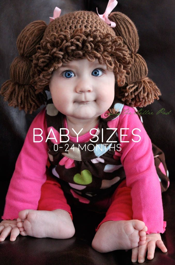 Cabbage Patch Wig Hat Cabbage Patch Kid Wig For Baby  236976c9e1d