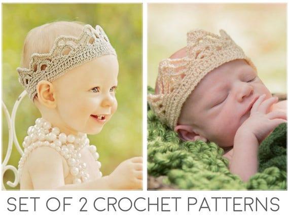 Crochet Crown Patterns Crown Crochet Pattern Crochet Tiara Etsy