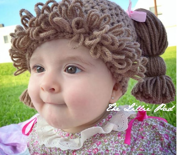 Crochet Pattern Cabbage Patch Hat Cabbage Patch Hat Pattern Etsy