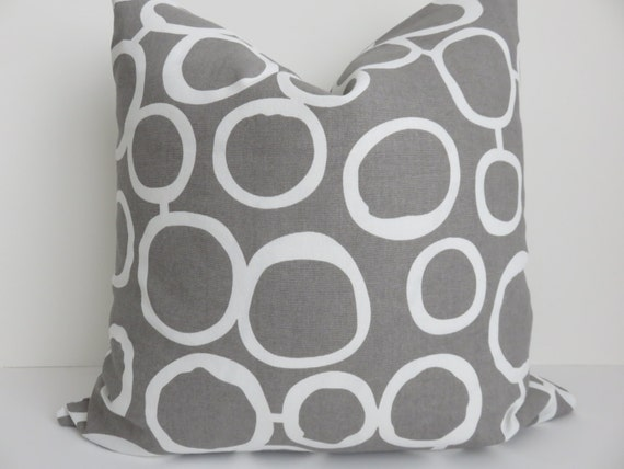 Gray White Pillow Cover 40x40 Pillow Cover Gray Pillow Etsy Enchanting Etsy Pillow Covers 20x20