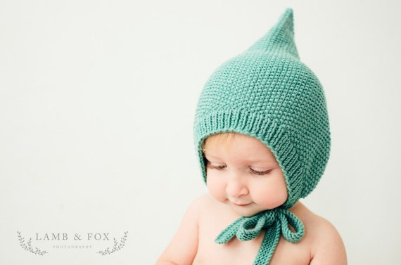 PDF Knitting Pattern to Knit Your Own Hat at Home - Little FINLEY Pixie Hat  3M up to 48M 39093fff8b2