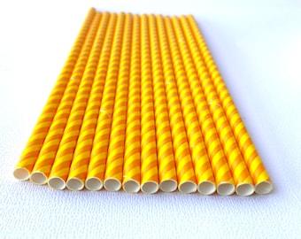 Candy corn stripe--Paper  Straws---25ct- -Decorations