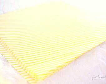 Yellow Stripe Wax PaPER-BeRRY BaSKET LiNERS-sandwich-krafts- Birthday Parties, Showers, Weddings-12ct