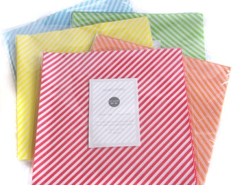 Multi-Pack of 60 total sheets- Choose your own colors Wax Food Paper-Food Wrap-Basket Liner