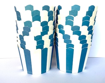 Navy Blue stripe  Nut/Candy/Baking-20ct --Parties--cupcakes-gumballs-snacks