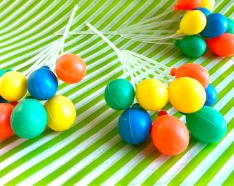 Retro ballloon cupcake picks- set of 3