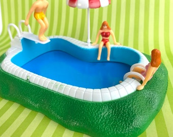 Swimming pool cake topper kit-summer  theme- cakes-Decoration